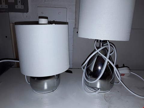 Lot 88 JOIA SET OF 2 TADLEY LAMPS IN CREAM  RRP £31.99