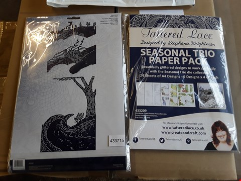 Lot 2499 APPROXIMATELY 57 BRAND NEW TATTERED LACE SEASONAL TRIO PAPER PACKS