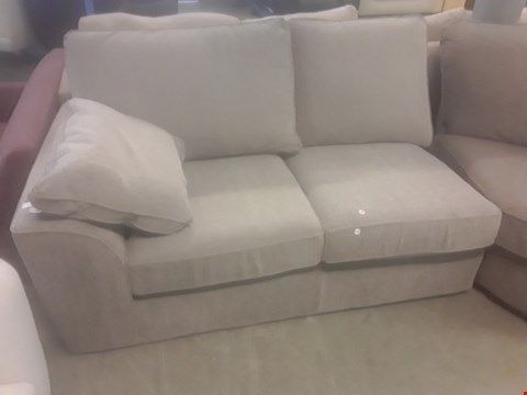 Lot 99 DESIGNER NANTUCKET GREY FABRIC TWO SEATER SECTION