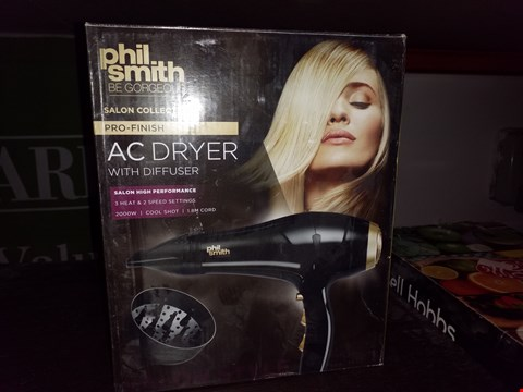 Lot 36 BOXED PHIL SMITH SALON COLLECTION AC DRYER
