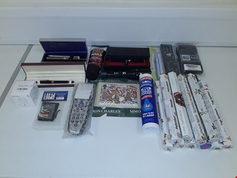 Lot 8079 LOT OF ASSORTED HOUSEHOLD ITEMS TO INCLUDE DESIGNER PENS, INCENSE, TV REMOTES