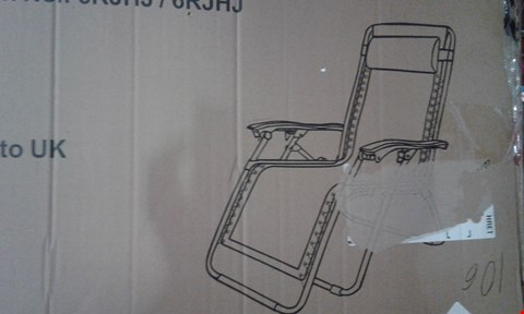 Lot 10732 LUXURY RELAXER CHAIR BLACK (1 BOX)