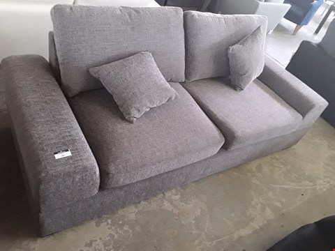 Lot 36 DESIGNER GREY FABRIC TWO SEATER SOFA