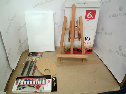 Lot 10555 BOXED Q ART ESSEX TABLE TOP EASEL SET