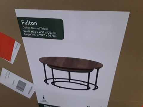 Lot 7065 BOXED FULTON COFFEE NEST OF TABLES (1 BOX)