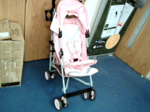 Lot 9391 MY BABIIE MB02 PINK CHEVRON STROLLER RRP £130.00