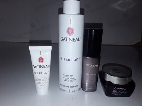 Lot 867 GATINEAU PARIS DEFI LIFT BODY OIL 200ML/FIRMING NECK AND DECOLLETAGE GEL 15ML/LIFTING EYE CONTOUR/REDEFINING PERFORMANCE CREAM