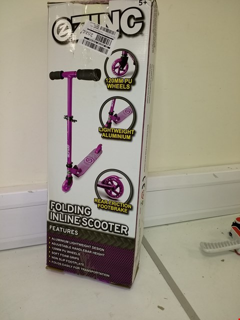 Lot 9214 BOXED ZINC IDENTITY SCOOTER - PURPLE RRP £39.99