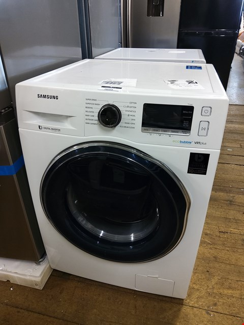 Lot 7039 SAMSUNG ECOBUBBLE WW90K6610QW WHITE VRT PLUS 9KG WASHING MACHINE  RRP £749.00