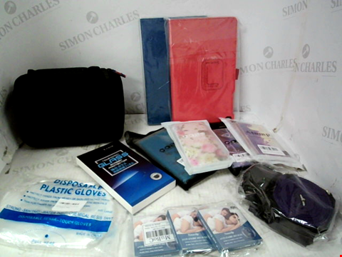 Lot 10189 LOT OF A SIGNIFICANT QUANTITY OF ASSORTED HOUSEHOLD ITEMS, TO INCLUDE A WIDE VARIETY OF PHONE/TABLET CASES, FDA ANTI SNORE DEVICES, TEMPERED GLASS SCREEN PROTECTORS, ETC