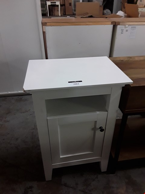 Lot 7061 DESIGNER 1-DRAWER WHITE UNIT