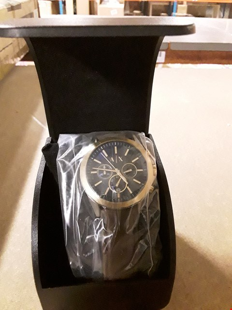 Lot 7207 GRADE 1 ARMANI EXCHANGE SILVER DIAL & STAINLESS STEEL ENCRUSTED FACE WRIST WATCH RRP £219
