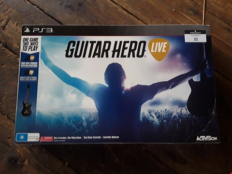 Lot 32 BOXED PS3 GUITAR HERO LIVE VIDEO GAME