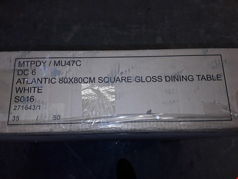 Lot 172 BOXED ATLANTIC 80X80CM SQUARE GLOSS DINING TABLE