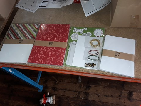 Lot 2096 LOT IF APPROXIMATLEY 12 BRAND NEW CREATE AND CRAFT GLISTENING GLITTER CHRISTMAS CARD KITS (4 BOXES)
