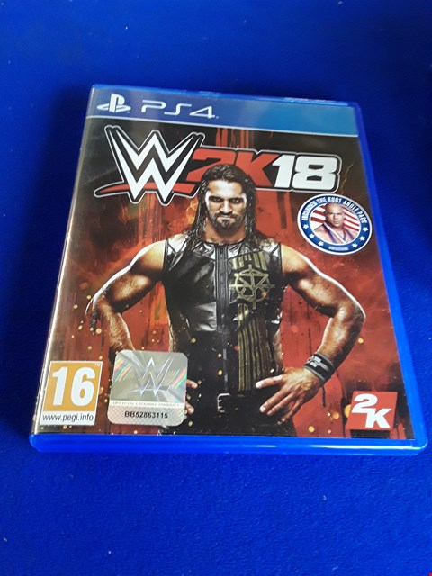 Lot 7634 WWE2K18 PLAYSTATION 4 GAME