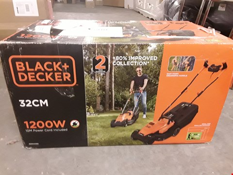 Lot 636 BLACK & DECKER 32CM 1200W CORDED LAWNMOWER