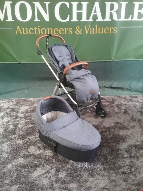 Lot 58 MAMAS AND PAPAS ARMADILLO STROLLER AND BASSINET RRP £314.00