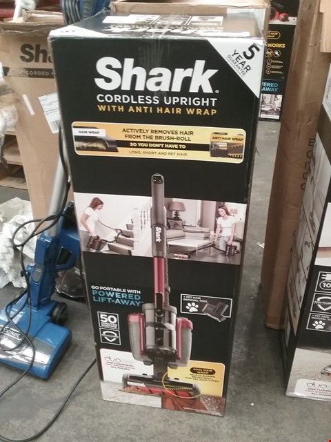 Lot 9201 BOXED SHARK CORDLESS UPRIGHT WITH ANTI HAIR WRAP