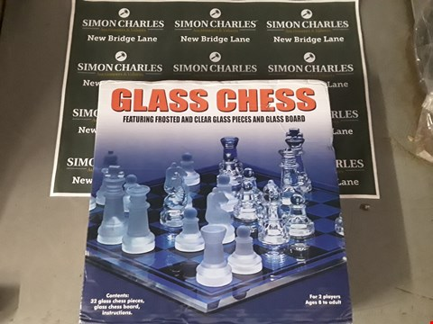 Lot 585 BOXED GLASS CHESS