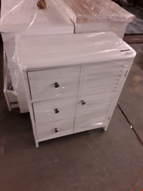 Lot 325 DESIGNER WHITE FINISH SMALL CABINET