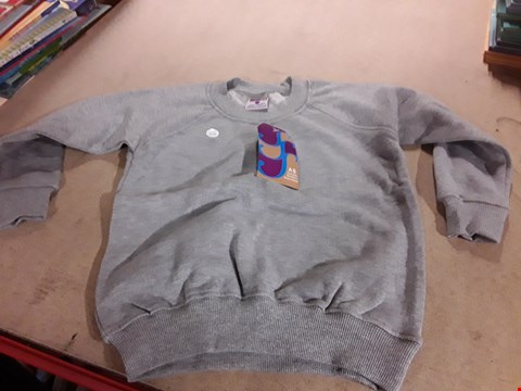 Lot 221 BOX OF APPROXIMATELY 50 GREY BOYS SCHOOL JUMPERS VARIOUS SIZES