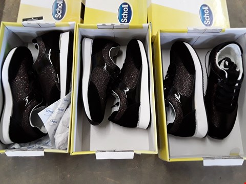 Lot 4048 3 BOXED SCHOLL CHARLIZE GLITTER TRAINERS - SIZES 4, 5, 6