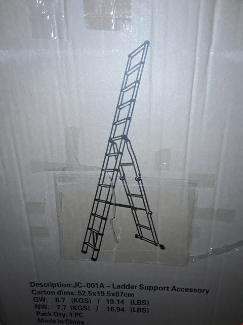 Lot 13852 BOXED FREE STANDING LADDER
