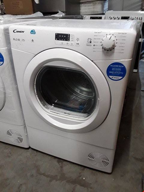 Lot 10023 CANDY SMART TOUCH 8KG CONDENSER DRYER IN WHITE