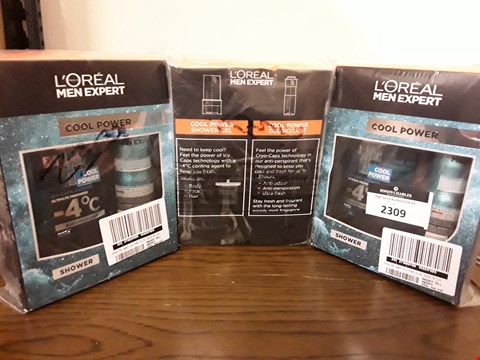 Lot 2309 LOT OF 3 ASSORTED COSMETICS TO INCLUDE LOREAL MEN EXPERT COOL POWER CHRISTMAS GIFT X3 RRP £20.29