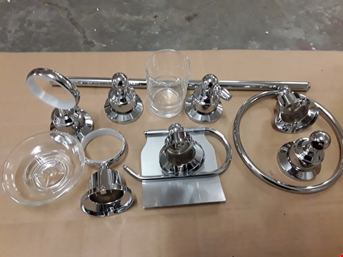 Lot 513 BOXED SET OF BUXTON CHROME ACCESSORIES TO INCLUDE TOILET ROLL AND TOWEL HOLDERS