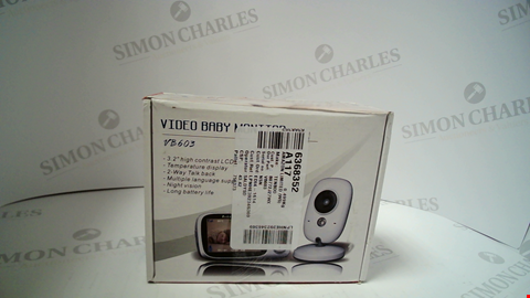 Lot 17199 TENBOO VIDEO BABY MONITOR