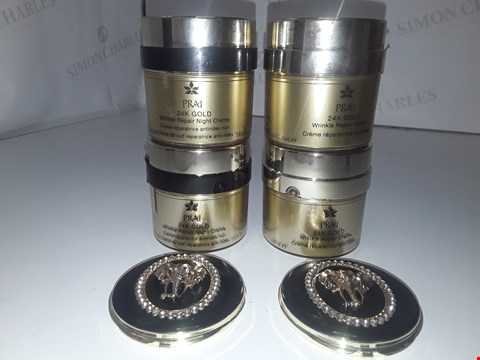 Lot 735 PRAI 24K GOLD WRINKLE REPAIR NIGHT CREAM 100ML X2/ 24K GOLD WRINKLE REPAIR CREAM 100ML X2/ ELEPHANT MIRROR X2