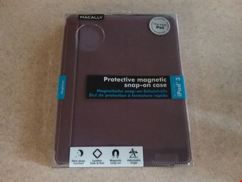 Lot 3027 6 BOXES BOX OF APPROXIMATELY 60 BRAND NEW MACALLY IPAD 3 PROTECTIVE MAGNETIC SNAP-ON CASES