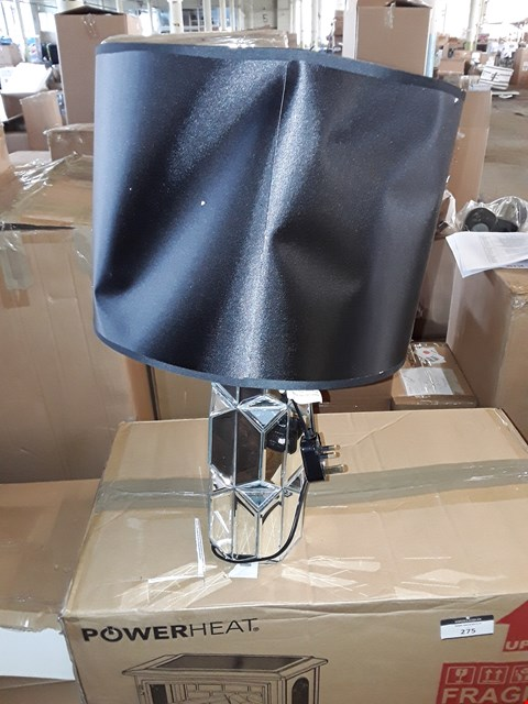 Lot 322 JULIEN MACDONALD MIRROR LAMP WITH BLACK SHADE