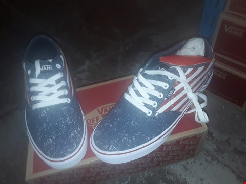Lot 2069 LOT OF 6 BRAND NEW VANS SHOES TO INCLUDE ATWOOD FLAG PEPPER NAVY/CHILI - VARIOUS SIZES  RRP £180