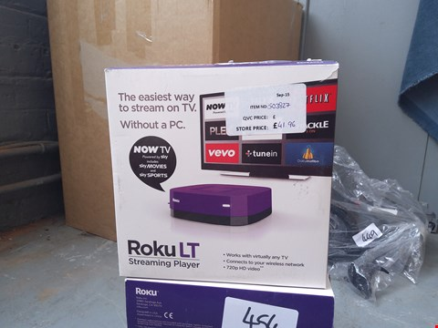 Lot 453 BOXED ROKU LT STREAMING PLAYER