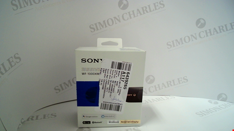 Lot 17177 SONY WF-1000XM3 TRULY WIRELESS NOISE CANCELLING HEADPHONES, UP TO 32H BATTERY LIFE, STABLE BLUETOOTH CONNECTION, WEARING DETECTION