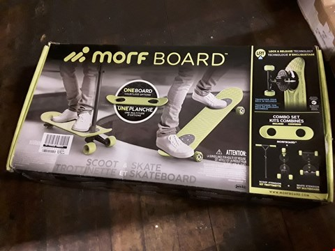 Lot 1371 MORF BOARD SCOOT & SKATE RRP £124.99