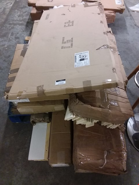Lot 17243 PALLET OF ASSORTED FLAT PACK FURNITURE PARTS
