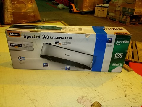 Lot 8318 FELLOWES SPECTRA A3 LAMINATOR