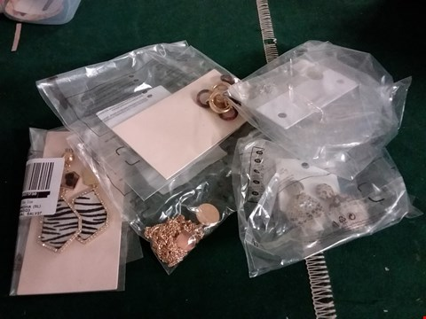 Lot 400 BOX OF APPROXIMATELY 12 ASSORTED JEWELLERY ITEMS TO INCLUDE HEXAGONAL OVERSIZED SUNGLASSES, ANIMAL PRINT EARRINGS, AVIATOR STYLE SUNGLASSES ETC