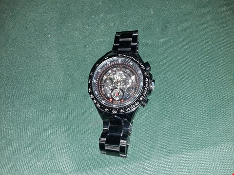 Lot 4038 WINNER MENS WATCH BLACK WITH ROSE GOLD INTERNALS