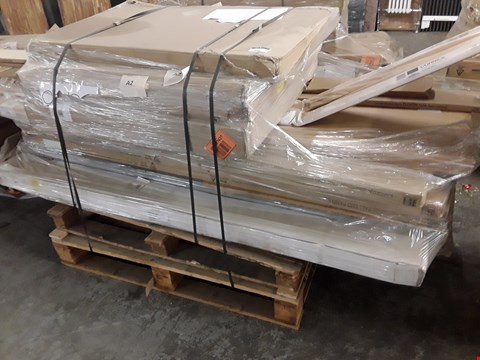 Lot 85 PALLET OF KITCHEN UNITS INCLUDING, TALL END PANELS, BASE CABINETS,