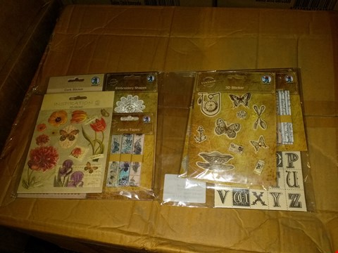 Lot 637 BOX OF APPROXIMATELY 100 URSUS NOSTALGIA VINTAGE EMBELLISH KITS