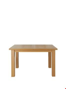 Lot 91 BOXED PRIMO OAK EFFECT EXTENDABLE TABLE (1 BOX) RRP £229