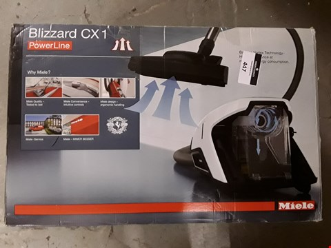 Lot 447 MIELE BLIZZARD CX1 EXCELLENCE POWERLINE VACUUM CLEANER