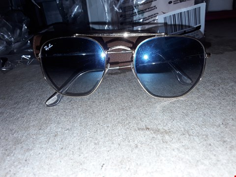 Lot 9324 RAYBAN BLUE LENS HEXAGONAL SUNGLASSES  RRP £180.00