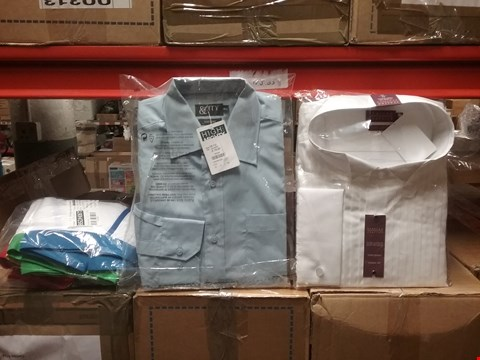 Lot 1322 LOT OF 8 BOXES CONTAINING APPROXIMATLEY 200 ASSORTED CLOTHING ITEMS TO INCLUDE CAPSULE MEN BOXERS, ITALIAN CLASSICS PURE COTTON LONG SLEEVE CLASSIC FIT AND CITY LONG SLEEVE BLUE T-SHIRT