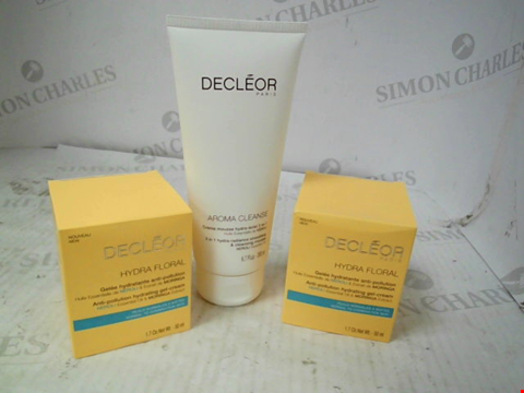Lot 10000 DECLEOR 3 PIECE HYDRA FLORAL & CLEANSING MOUSSE COLLECTION